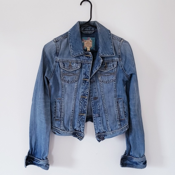 Abercrombie & Fitch Jackets & Blazers - A&F Distressed Jean Jacket